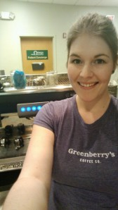 A picture from my short stint as a manager at Greenberry's Coffe Co.